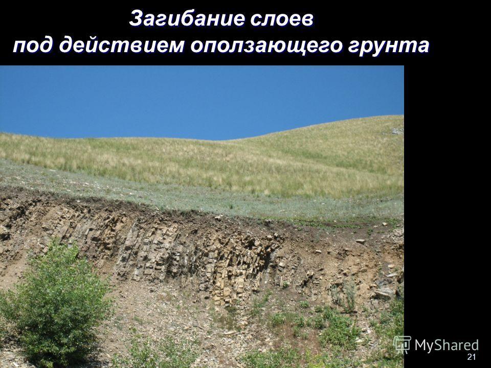 Геологи-2014- л-3 21 Загибание слоев под действием оползающего грунта