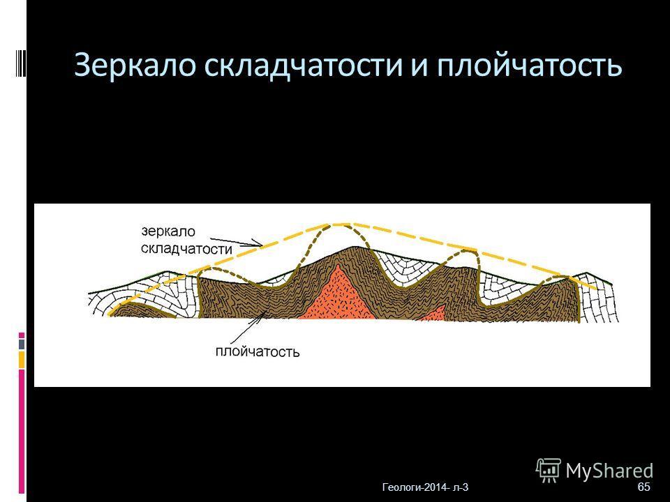 Геологи-2014- л-3 65 Зеркало складчатости и плойчатость