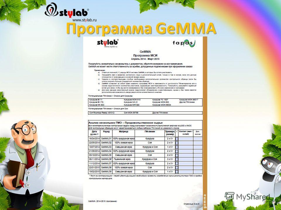 Программа GeMMA
