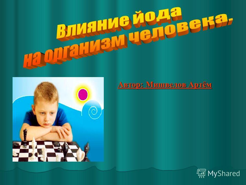 Автор: Мишвелов Артём