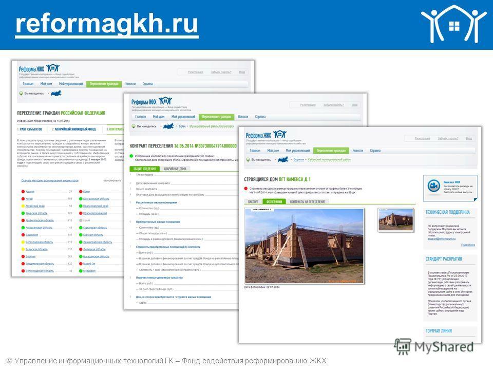 reformagkh.ru © Управление информационных технологий ГК – Фонд содействия реформированию ЖКХ