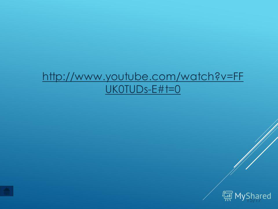 15/17 http://www.youtube.com/watch?v=FF UK0TUDs-E#t=0
