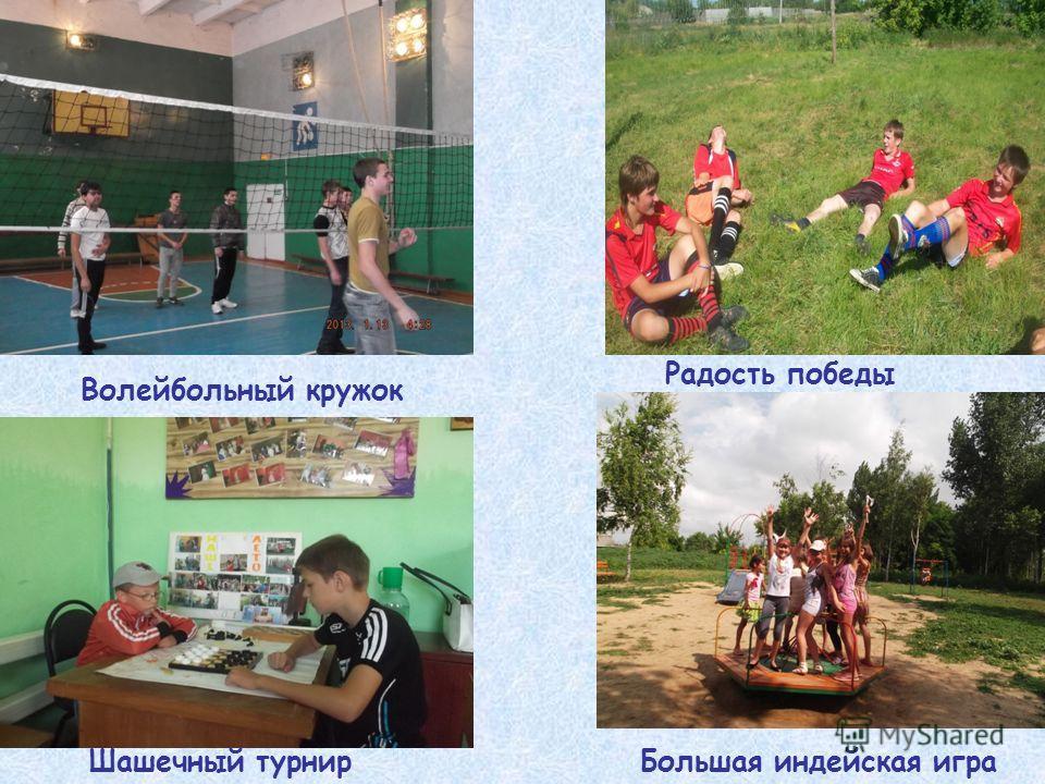 Волейбольный кружок Радость победы Шашечный турнир Большая индейская игра