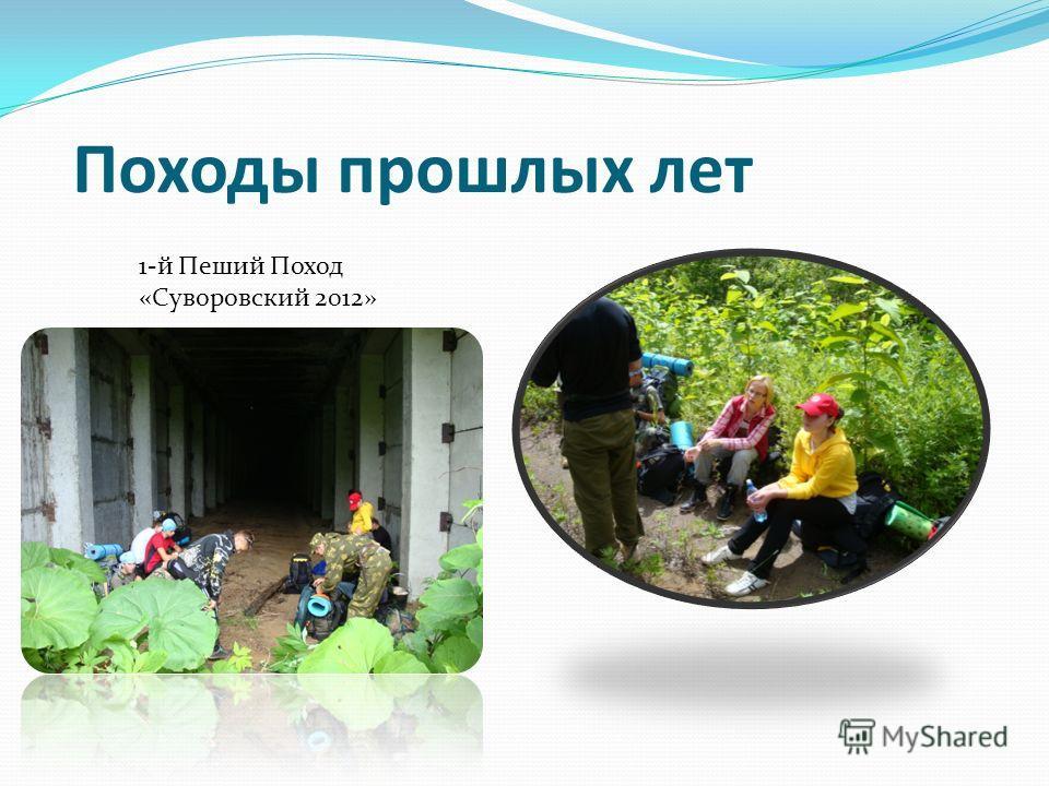 Походы прошлых лет 1-й Пеший Поход «Суворовский 2012»