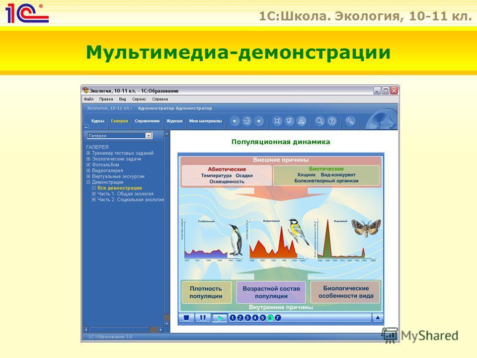 1C:Школа. Экология, 10-11 кл. Мультимедиа-демонстрации