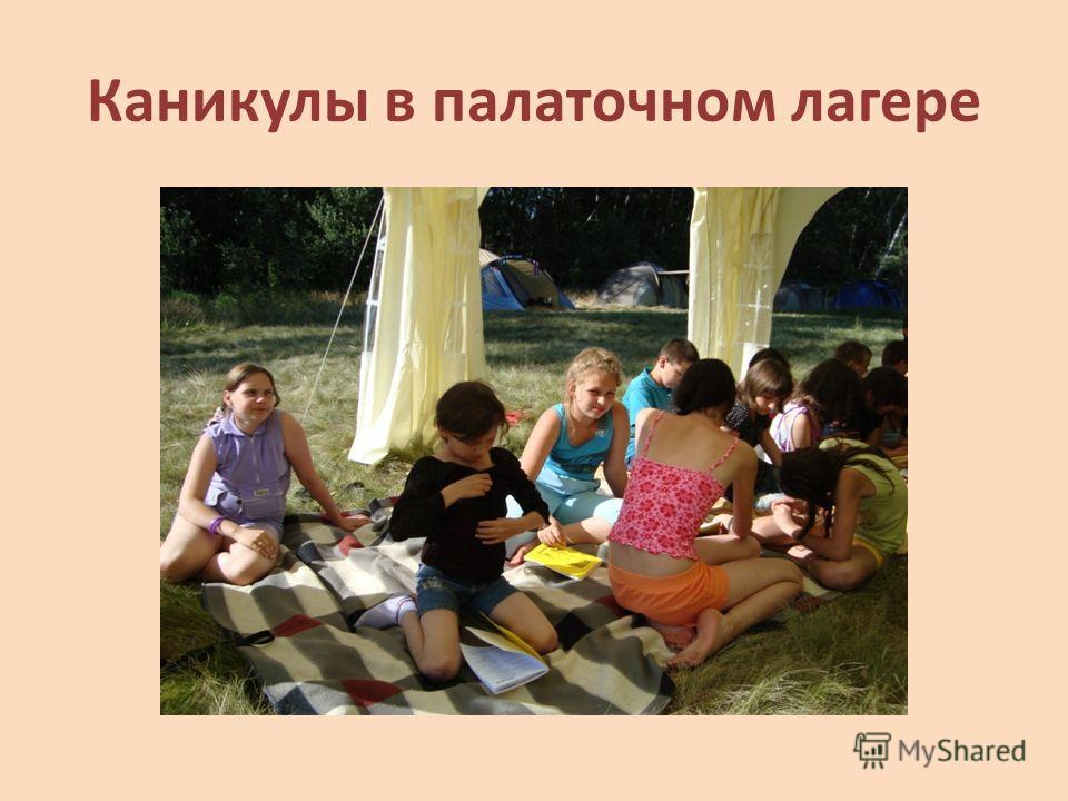 Каникулы в палаточном лагере