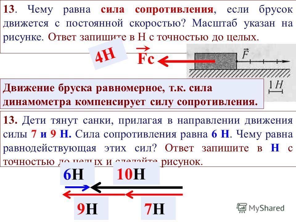 12. Вес и сила тяжести, действующая на человека, если он выпьет стакан воды вместимостью 0,3 л, увеличатся соответственно на... Ответ запишите в Н с точностью до десятых. F ТЯЖЕСТИ Р Р = mgmg m = V × m = 1000 кг/м 3 × 0,3 м 3 /1000 = 0,3 кг = 0,3 кг×