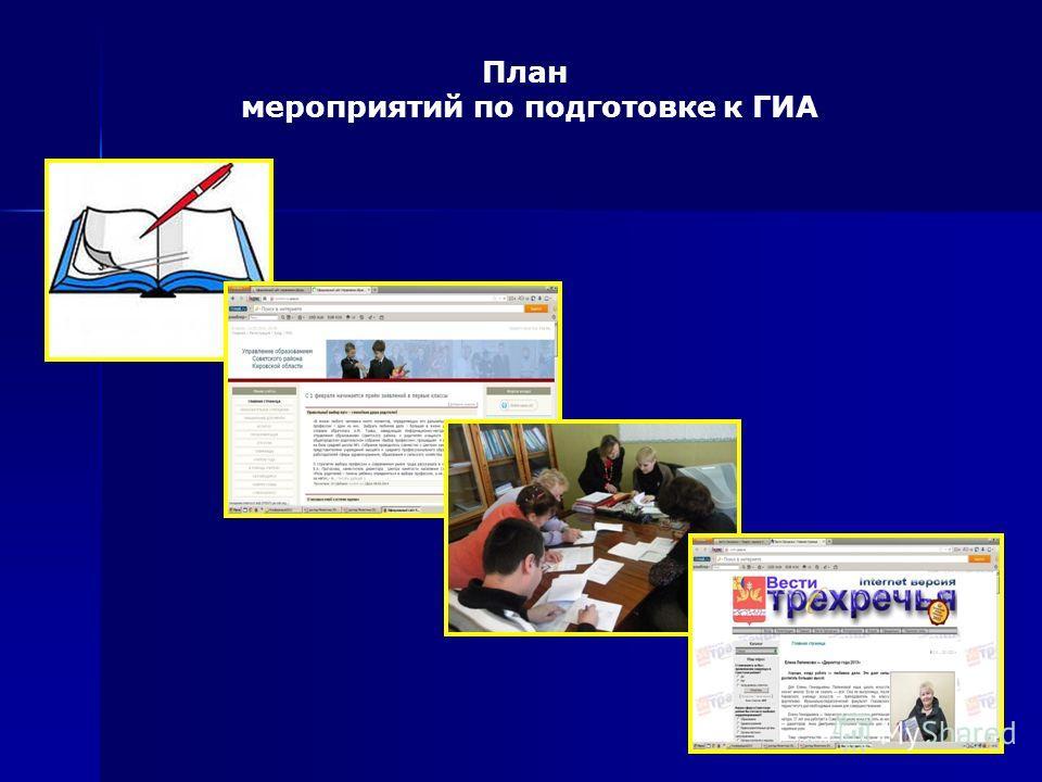 План мероприятий по подготовке к ГИА
