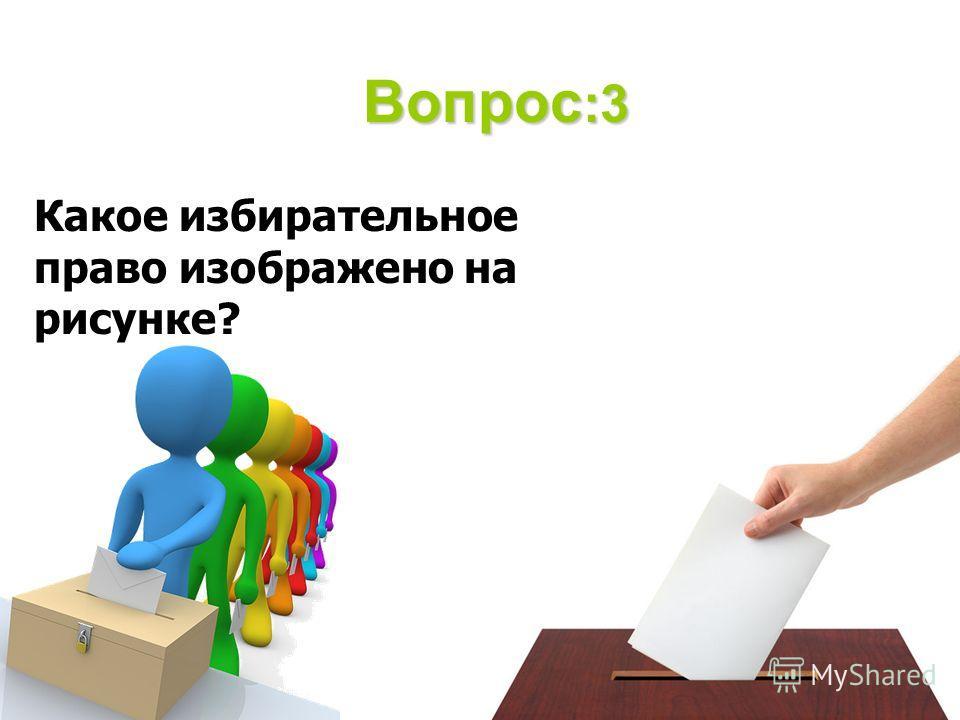 Вопрос :3 Какое избирательное право изображено на рисунке?