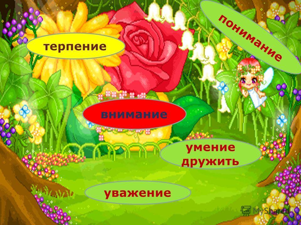 Веселая полянка терпение внимание умение дружить уважение понимание