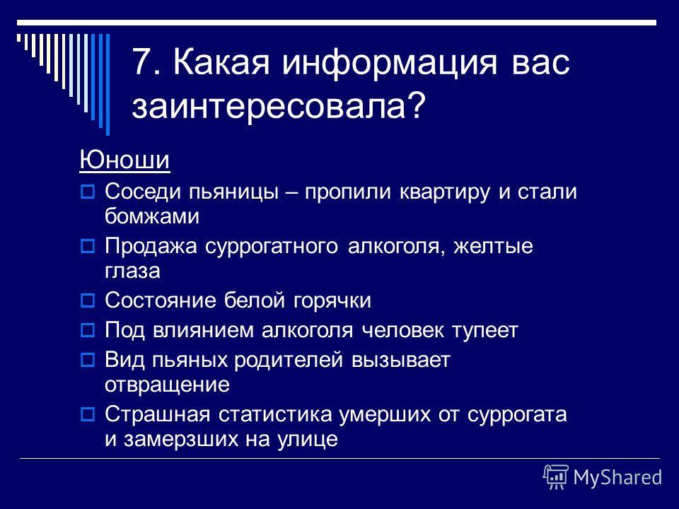 6. Источники информации (%)