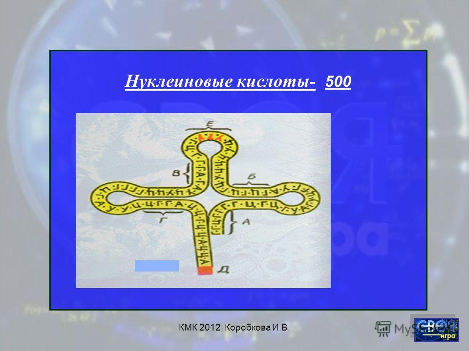 КМК 2012, Коробкова И.В. Нуклеиновые кислоты- 500