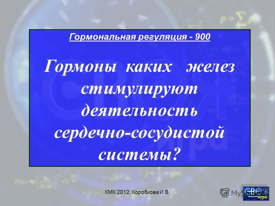 КМК 2012, Коробкова И.В. Гормональная регуляция - 900 Гормоны каких желез стимулируют деятельность сердечно-сосудистой системы?