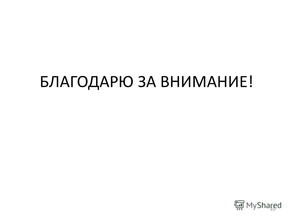 БЛАГОДАРЮ ЗА ВНИМАНИЕ! 49