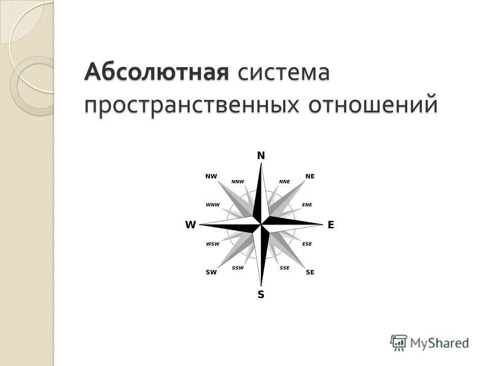 Абсолютная система пространственных отношений