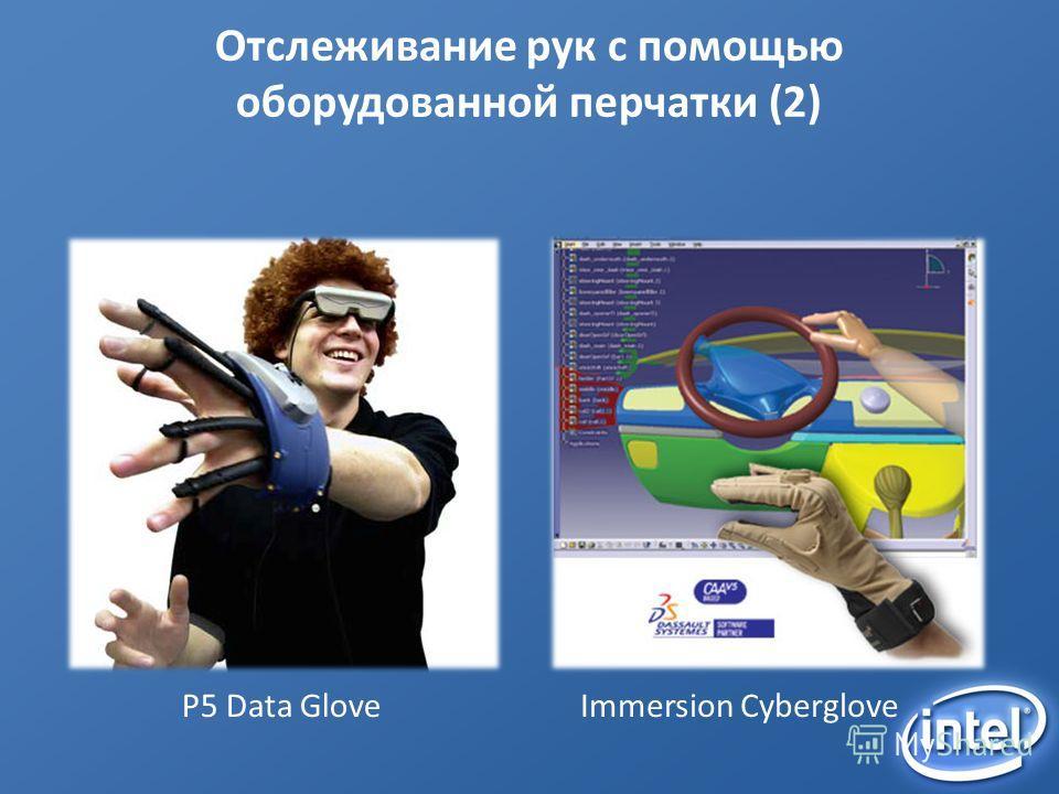 Отслеживание рук с помощью оборудованной перчатки (2) P5 Data GloveImmersion Cyberglove