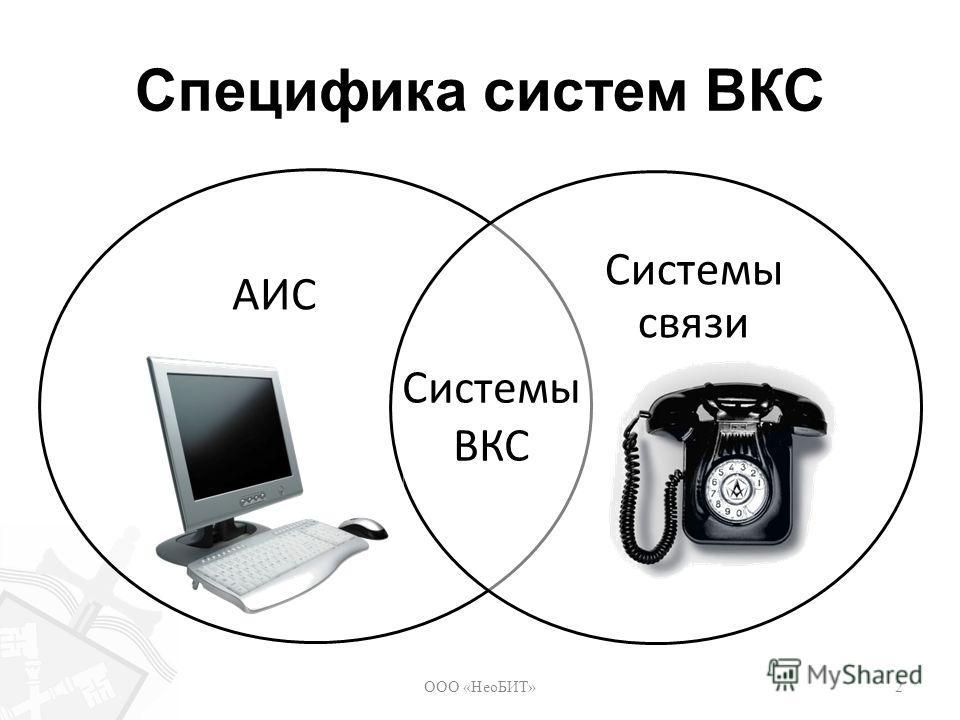 Специфика систем ВКС ООО «НеоБИТ»2 АИС Системы связи Системы ВКС