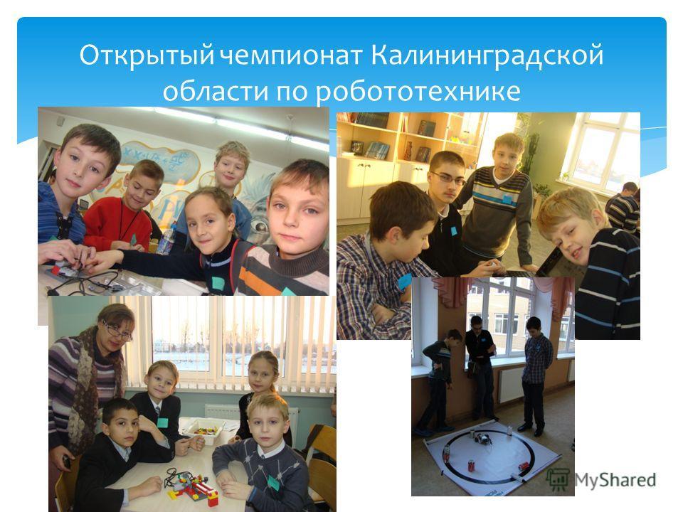Открытый чемпионат Калининградской области по робототехнике