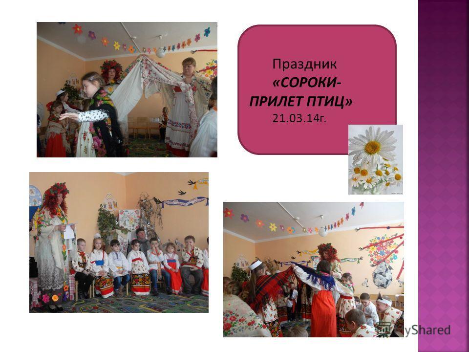 Праздник «СОРОКИ- ПРИЛЕТ ПТИЦ» 21.03.14 г.