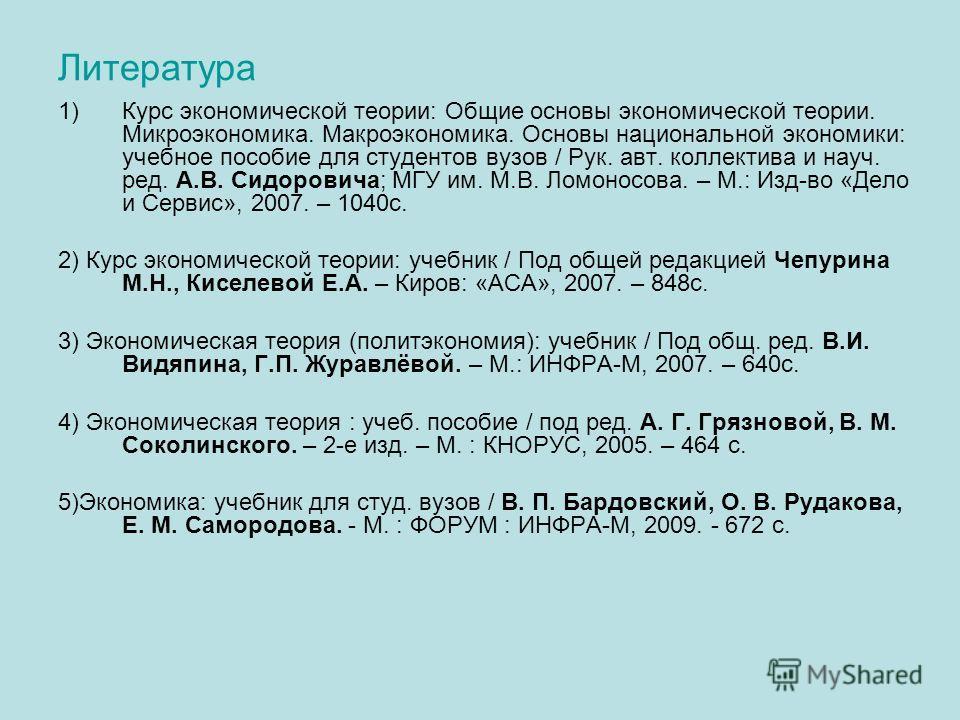 Чепурин Курс Экономической Теории