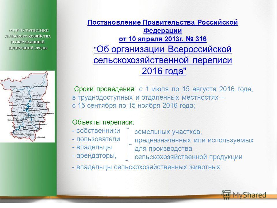 Постановление Правительства Российской Федерации от 10 апреля 2013 г. 316