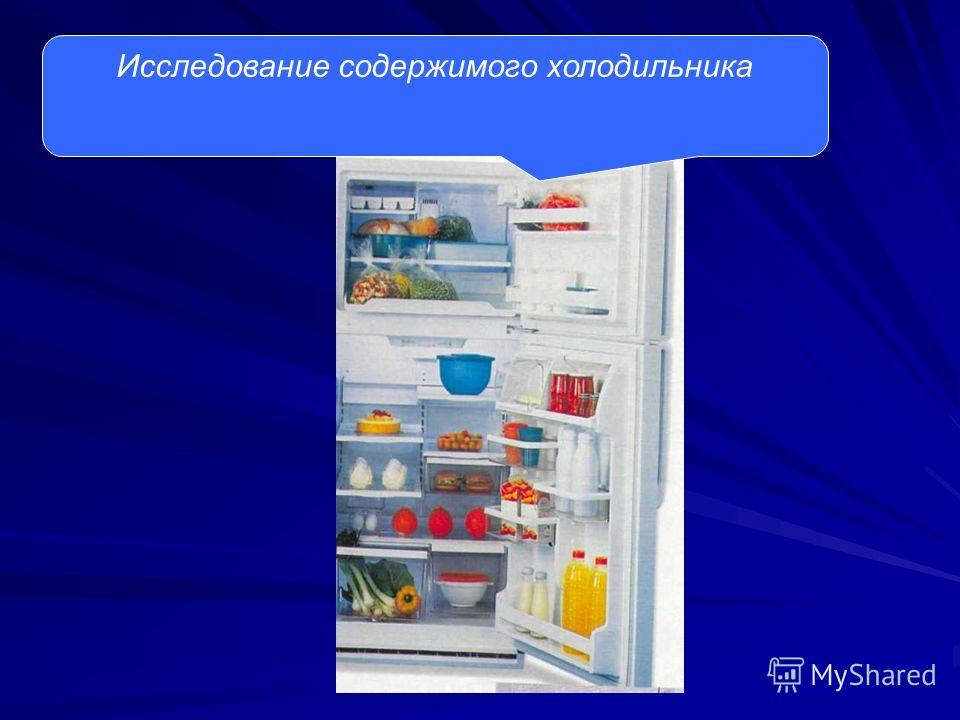 Исследование содержимого холодильника