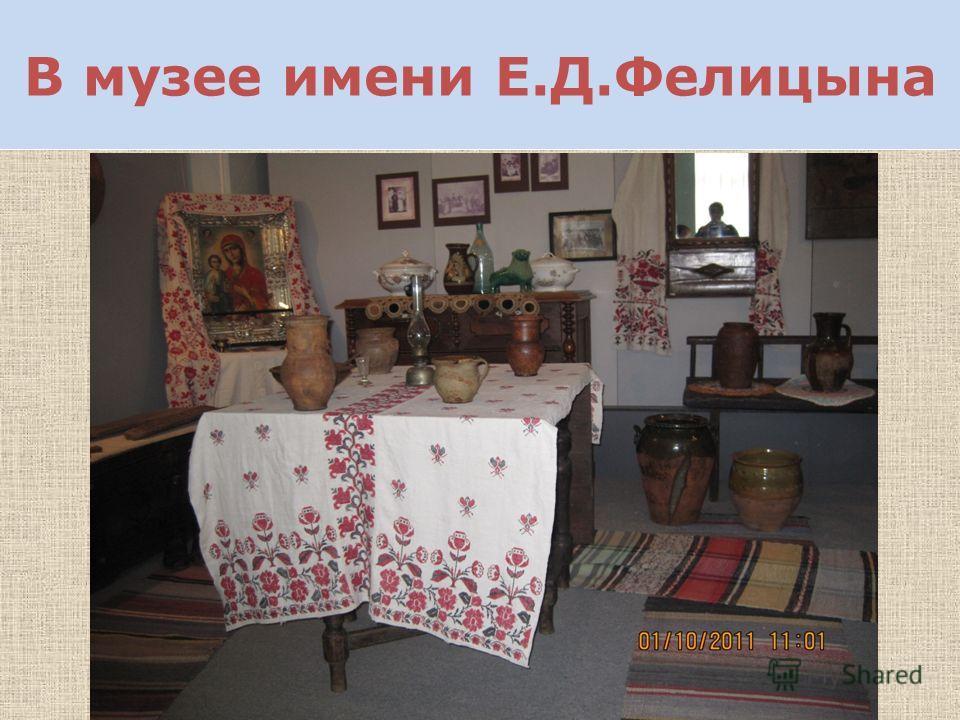 В музее имени Е.Д.Фелицына