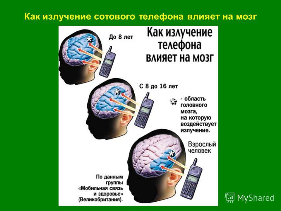 Как излучение сотового телефона влияет на мозг