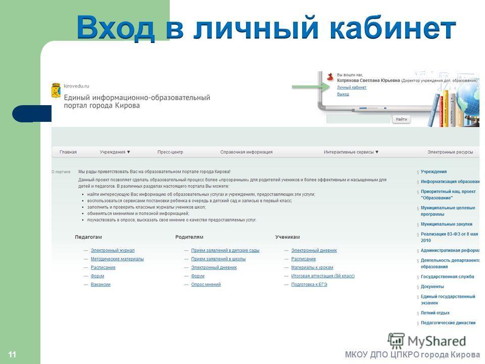 11МКОУ ДПО ЦПКРО города Кирова