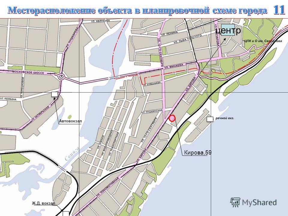 центр Кирова,59 Автовокзал Ж.Д. вокзал