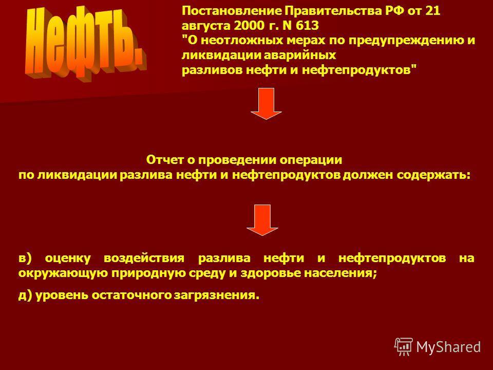 Постановление Правительства РФ от 21 августа 2000 г. N 613