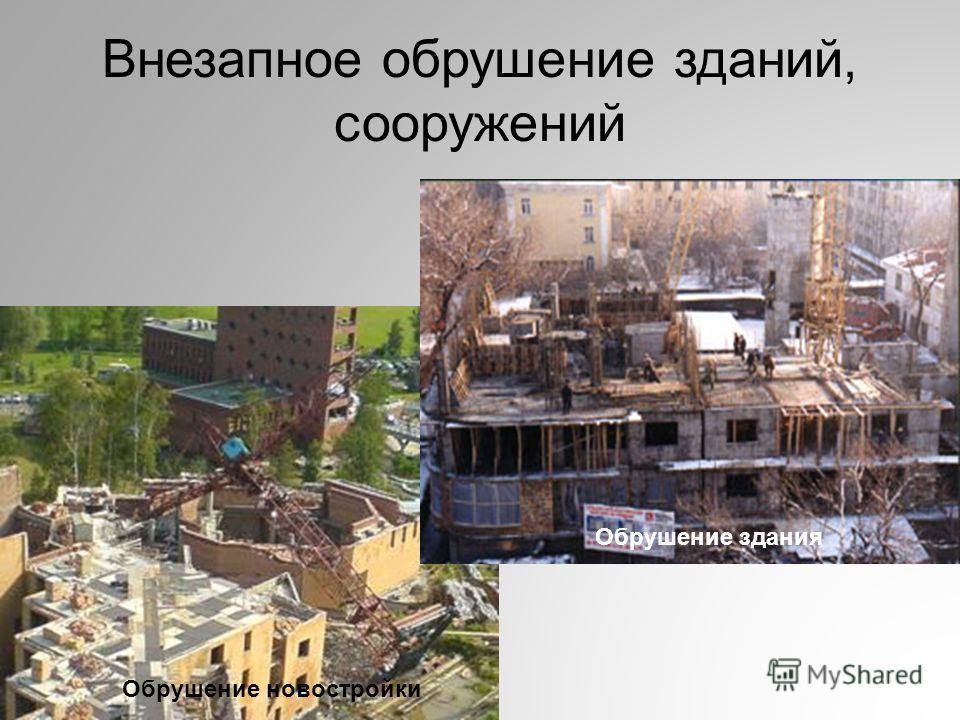 Внезапное обрушение зданий, сооружений Обрушение новостройки Обрушение здания