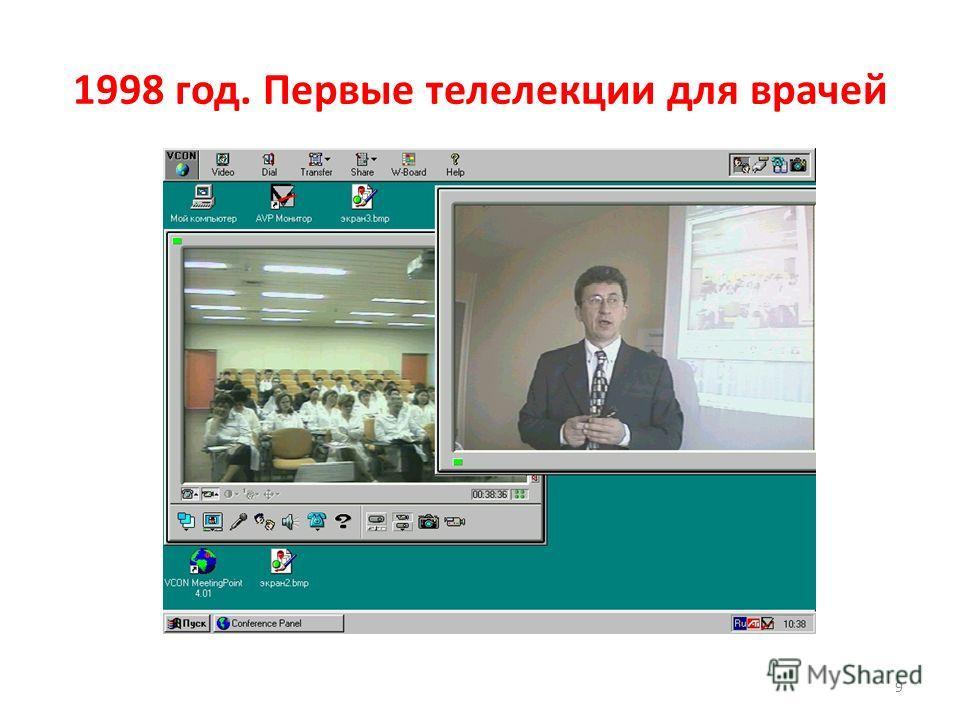 9 1998 год. Первые телелекции для врачей