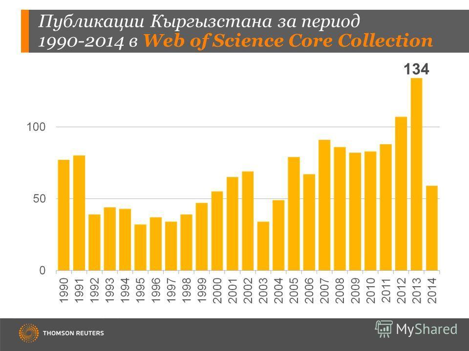 Публикации Кыргызстана за период 1990-2014 в Web of Science Core Collection 134