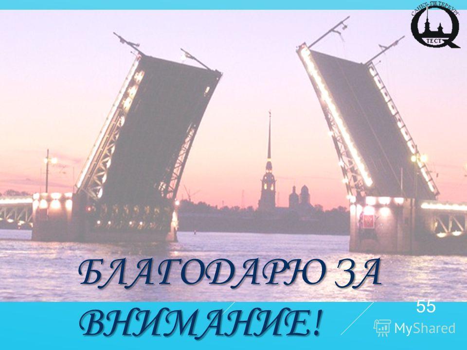 БЛАГОДАРЮ ЗА ВНИМАНИЕ! 55