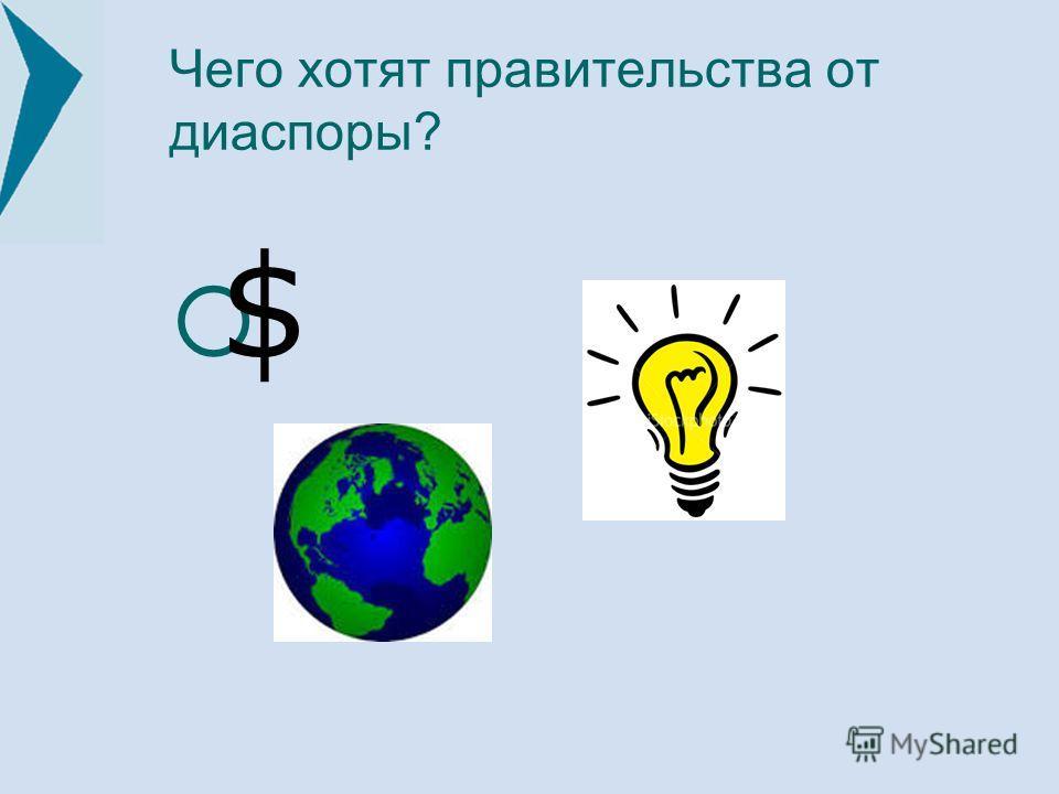Чего хотят правительства от диаспоры? $