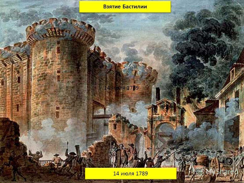 Взятие Бастилии 14 июля 1789