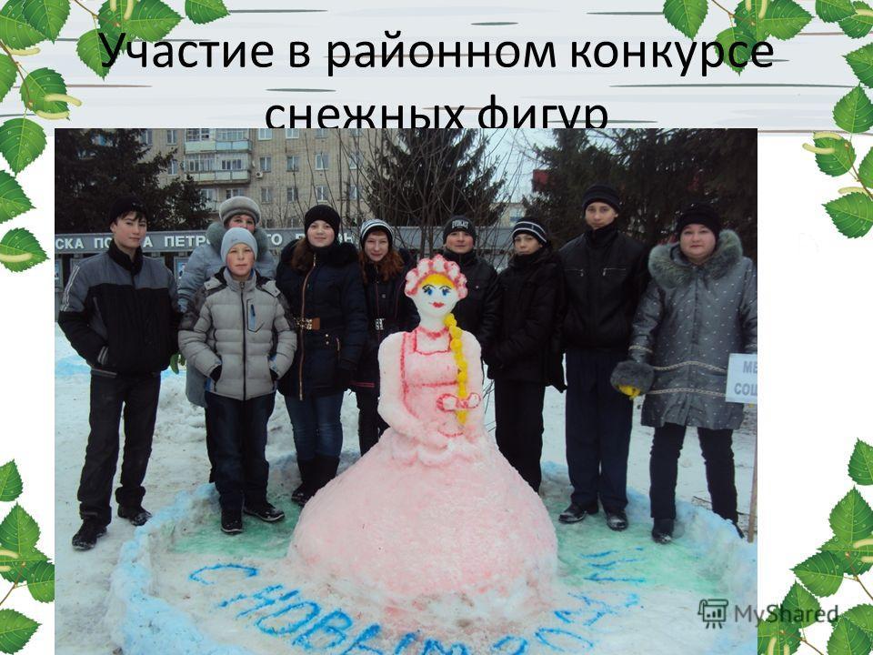 Участие в районном конкурсе снежных фигур