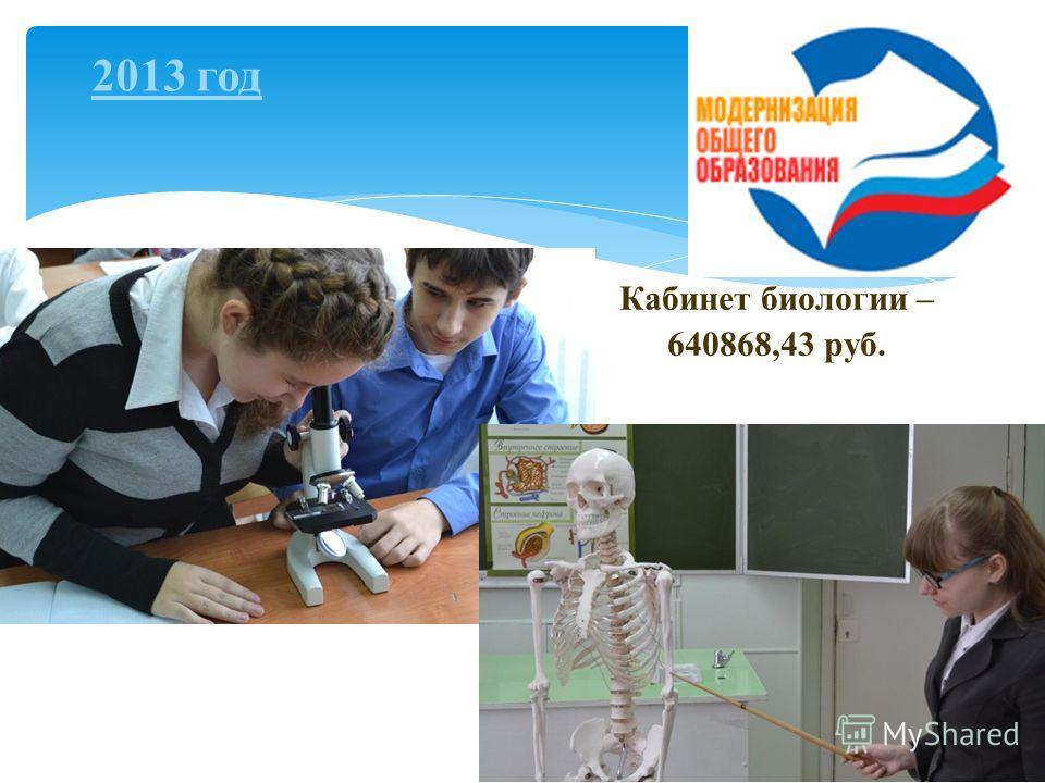 18 Кабинет биологии – 640868,43 руб. 2013 год