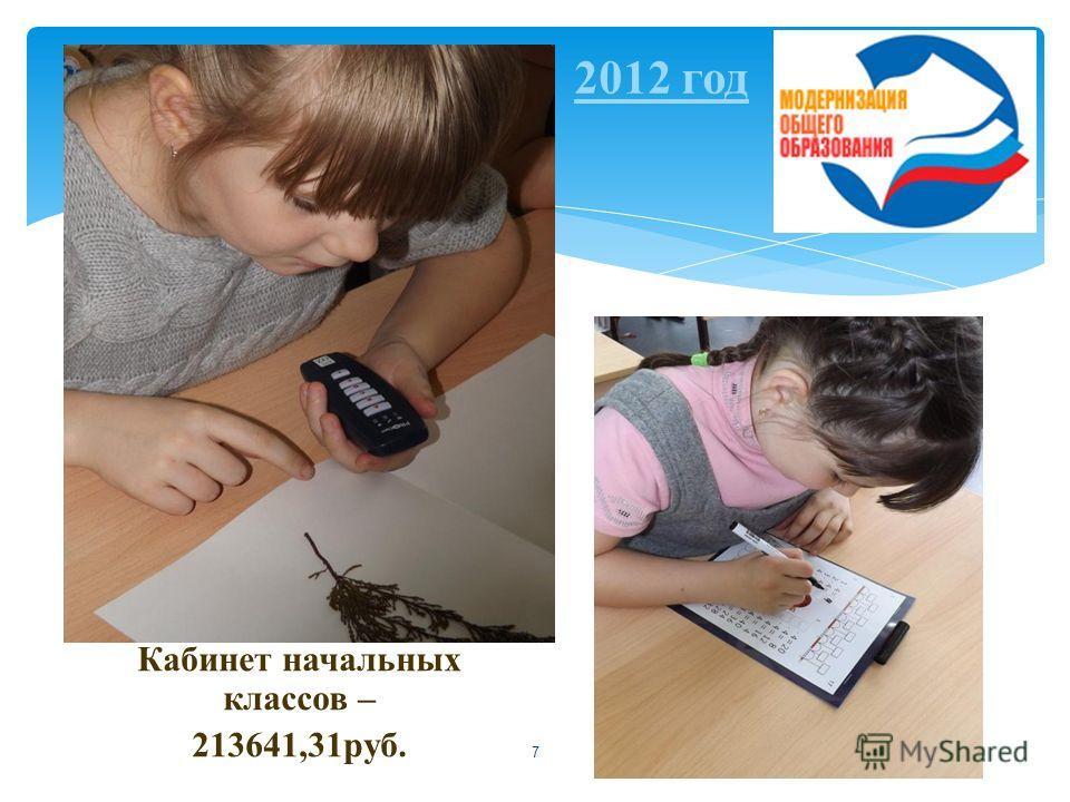 7 Кабинет начальных классов – 213641,31 руб. 2012 год
