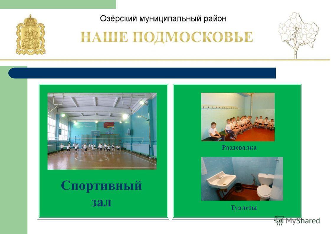 Спортивный зал Раздевалка Туалеты
