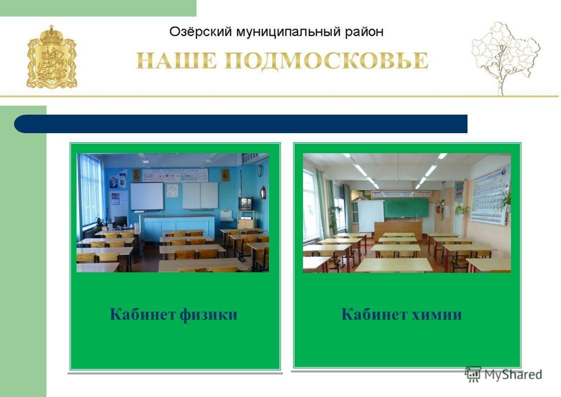 Кабинет физики Кабинет химии