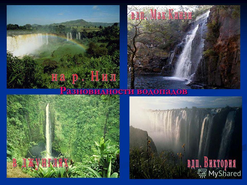 Разновидности водопадов