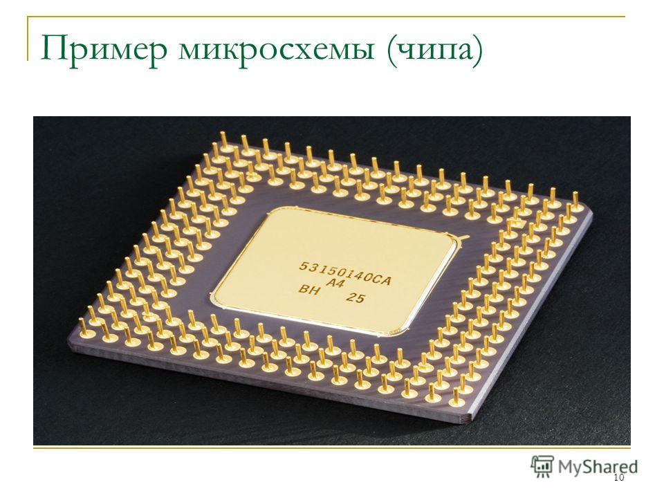 10 Пример микросхемы (чипа)