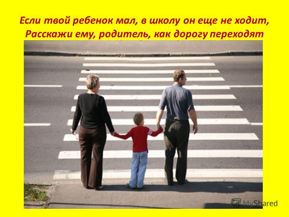Если твой ребенок мал, в школу он еще не ходит, Расскажи ему, родитель, как дорогу переходят