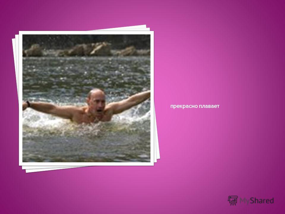 прекрасно плавает