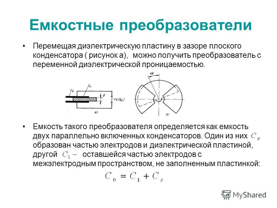 плоского конденсатора