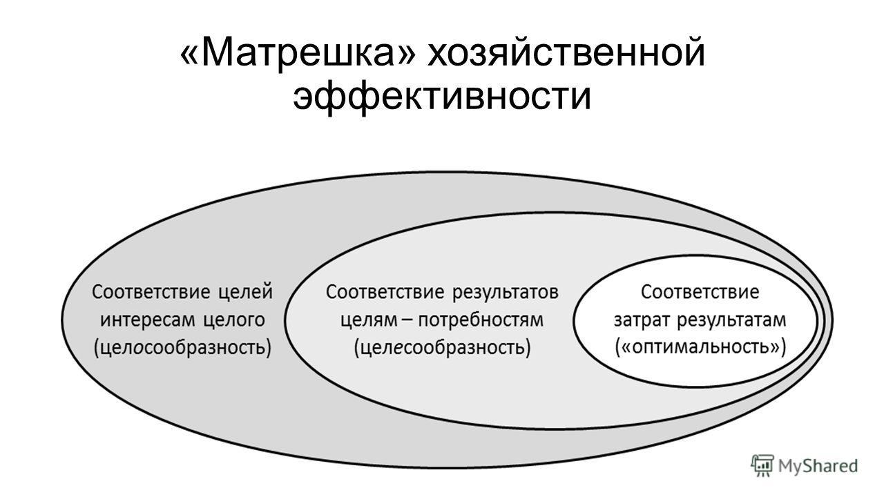 «Матрешка» хозяйственной эффективности