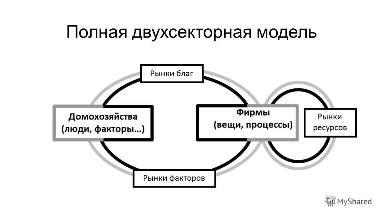 Полная двухсекторная модель