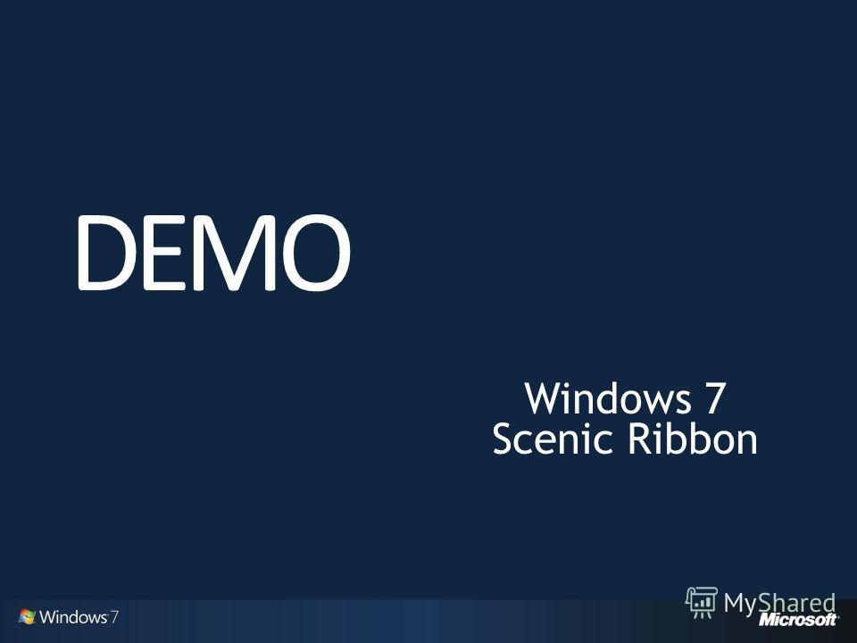 Windows 7 Scenic Ribbon DEMO
